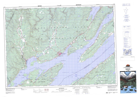 011K02 Baddeck Canadian topographic map, 1:50,000 scale