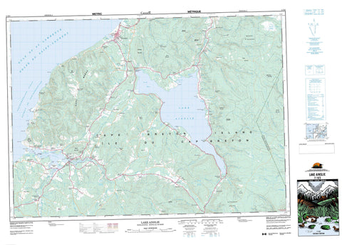 011K03 Lake Ainslie Canadian topographic map, 1:50,000 scale
