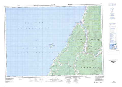 011K06 Margaree Canadian topographic map, 1:50,000 scale