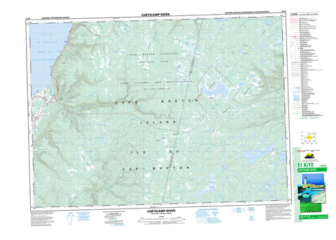 011K10 Cheticamp River Canadian topographic map, 1:50,000 scale