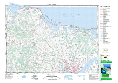 011L06 North Rustico Canadian topographic map, 1:50,000 scale