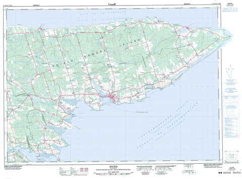 011L08 Souris Canadian topographic map, 1:50,000 scale