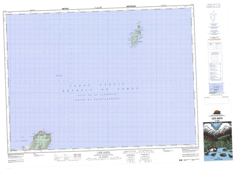 011N01 Cape North Canadian topographic map, 1:50,000 scale