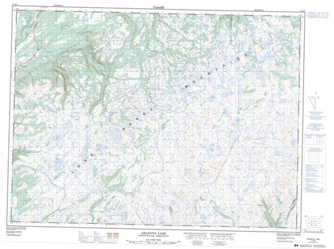 011O15 Grandys Lake Canadian topographic map, 1:50,000 scale