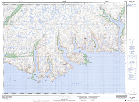 011P10 Cape La Hune Canadian topographic map, 1:50,000 scale