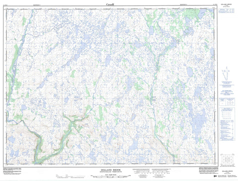 011P15 Dolland Brook Canadian topographic map, 1:50,000 scale