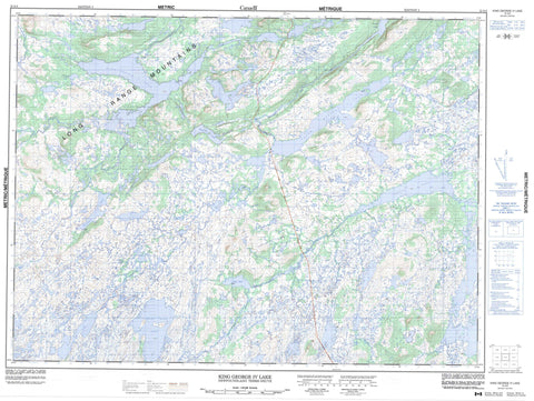 012A04 King George Iv Lake Canadian topographic map, 1:50,000 scale