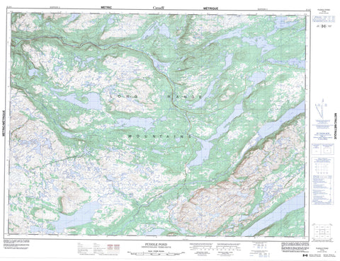 012A05 Puddle Pond Canadian topographic map, 1:50,000 scale
