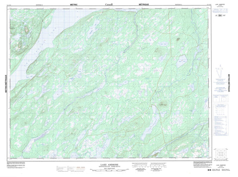 012A10 Lake Ambrose Canadian topographic map, 1:50,000 scale
