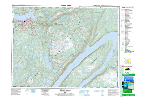 012A13 Corner Brook Canadian topographic map, 1:50,000 scale