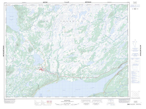 012A15 Buchans Canadian topographic map, 1:50,000 scale