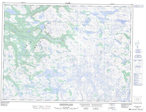 012B01 Dashwoods Pond Canadian topographic map, 1:50,000 scale