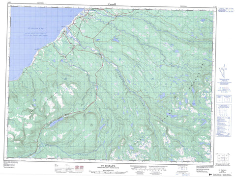 012B02 St Fintan s Canadian topographic map, 1:50,000 scale