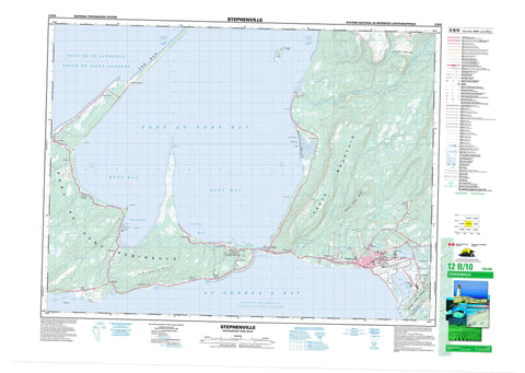 012B10 Stephenville Canadian topographic map, 1:50,000 scale