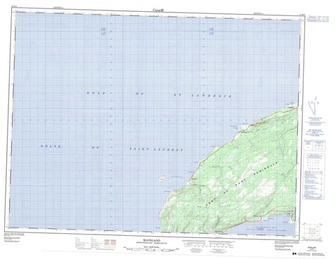 012B11 Mainland Canadian topographic map, 1:50,000 scale