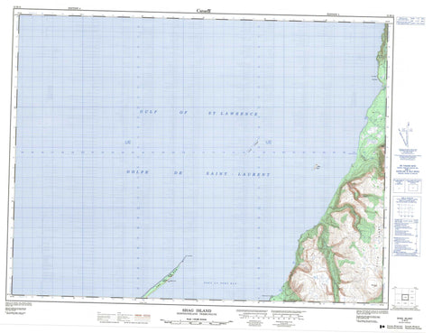 012B15 Shag Island Canadian topographic map, 1:50,000 scale