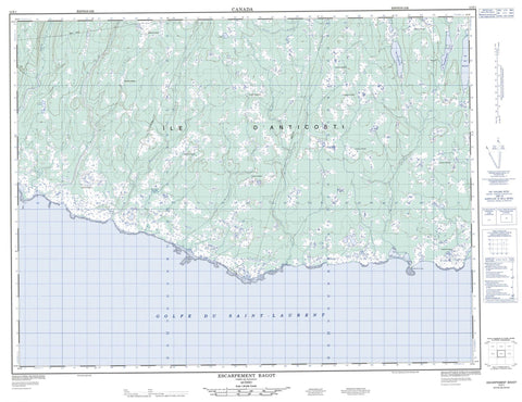 012E01 Escarpement Bagot Canadian topographic map, 1:50,000 scale