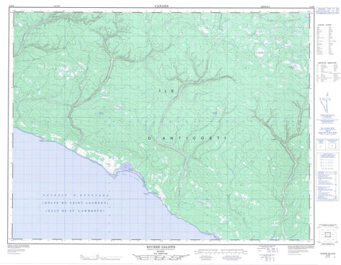 012E06 Riviere Galiote Canadian topographic map, 1:50,000 scale