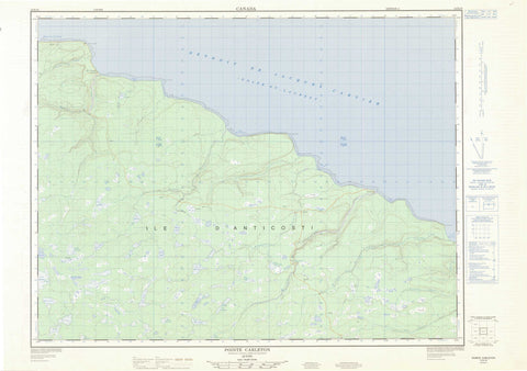 012E10 Pointe Carleton Canadian topographic map, 1:50,000 scale
