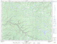 012E11 Lac Wickenden Canadian topographic map, 1:50,000 scale