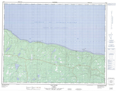 012E13 Lac Faure Canadian topographic map, 1:50,000 scale