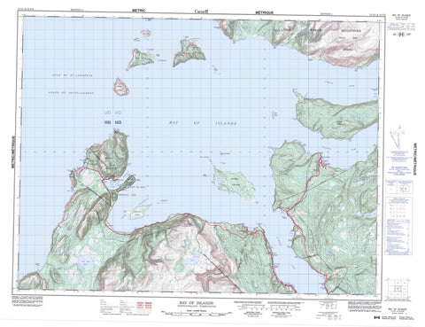012G01 Bay Of Islands Canadian topographic map, 1:50,000 scale