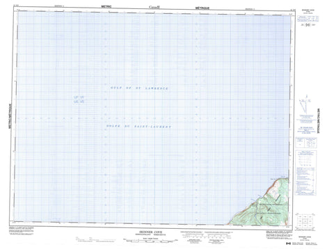 012G09 Skinner Cove Canadian topographic map, 1:50,000 scale