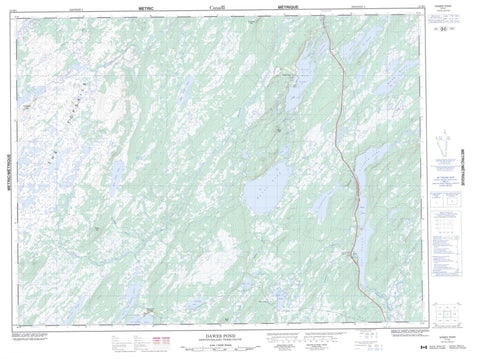 012H01 Dawes Pond Canadian topographic map, 1:50,000 scale