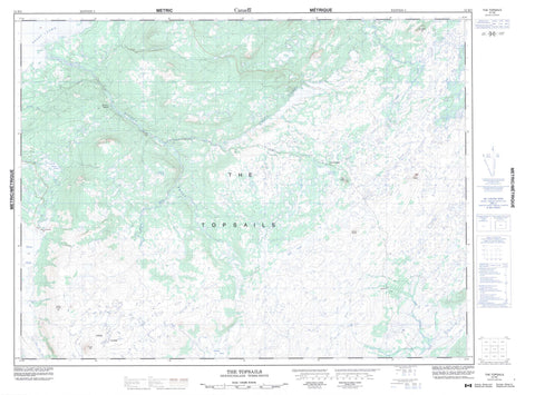 012H02 The Topsails Canadian topographic map, 1:50,000 scale