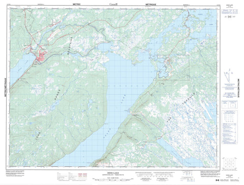 012H03 Deer Lake Canadian topographic map, 1:50,000 scale