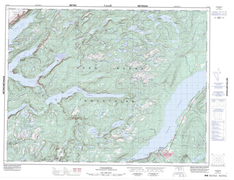 012H04 Pasadena Canadian topographic map, 1:50,000 scale