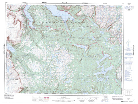 012H05 Lomond Canadian topographic map, 1:50,000 scale