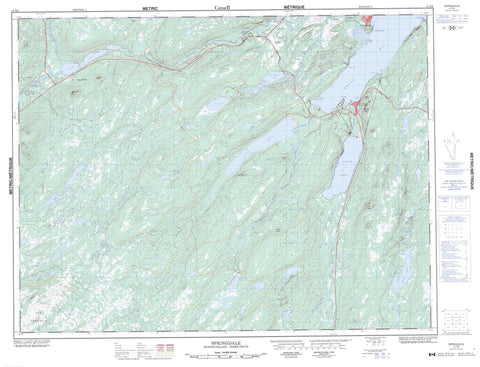 012H08 Springdale Canadian topographic map, 1:50,000 scale