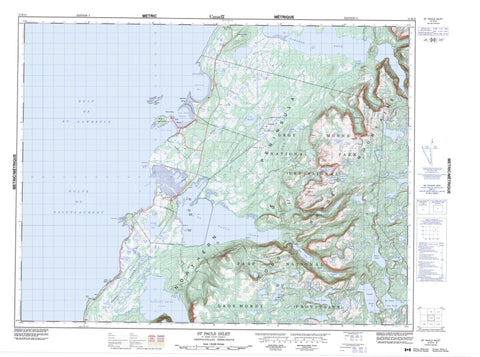 012H13 St Pauls Inlet Canadian topographic map, 1:50,000 scale