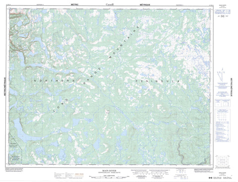 012H14 Main River Canadian topographic map, 1:50,000 scale