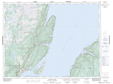 012H15 Jackson s Arm Canadian topographic map, 1:50,000 scale