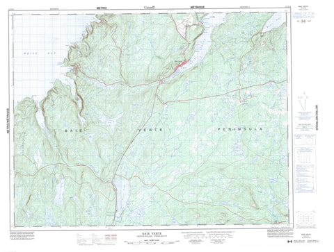 012H16 Baie Verte Canadian topographic map, 1:50,000 scale