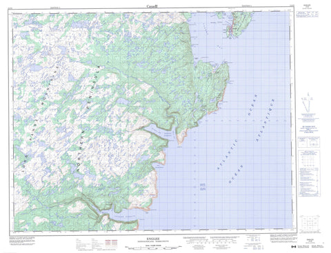 012I09 Englee Canadian topographic map, 1:50,000 scale