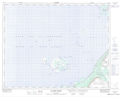 012I14 St John Island Canadian topographic map, 1:50,000 scale