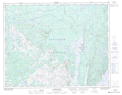 012I16 Roddickton Canadian topographic map, 1:50,000 scale