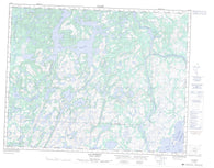 012J12 Lac Triquet Canadian topographic map, 1:50,000 scale