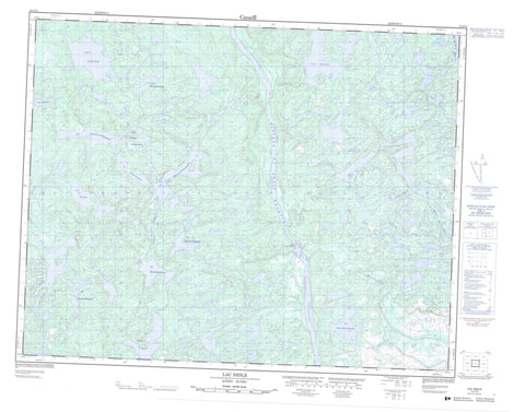012J13 Lac Nesle Canadian topographic map, 1:50,000 scale
