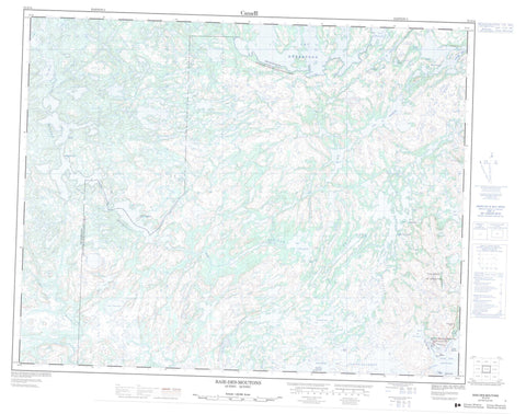 012J14 Baie Des Moutons Canadian topographic map, 1:50,000 scale