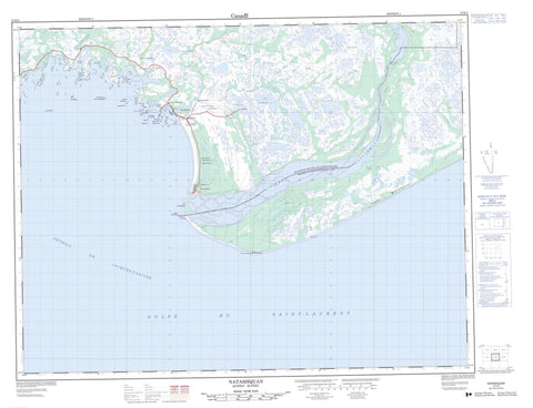 012K04 Natashquan Canadian topographic map, 1:50,000 scale