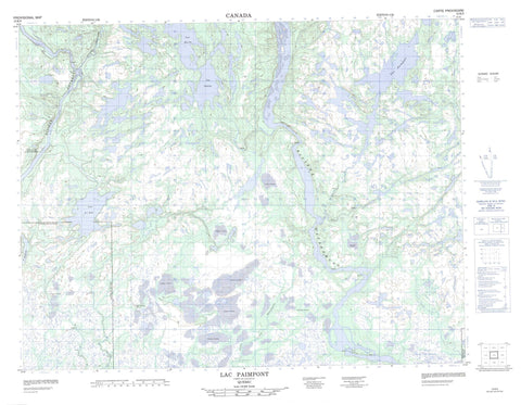 012K05 Lac Paimpont Canadian topographic map, 1:50,000 scale