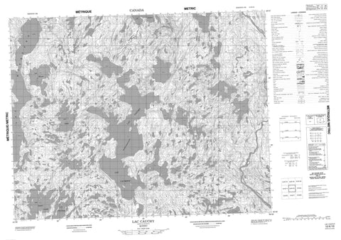 012K10 Lac Cauchy Canadian topographic map, 1:50,000 scale
