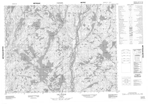 012K12 Lac Victor Canadian topographic map, 1:50,000 scale