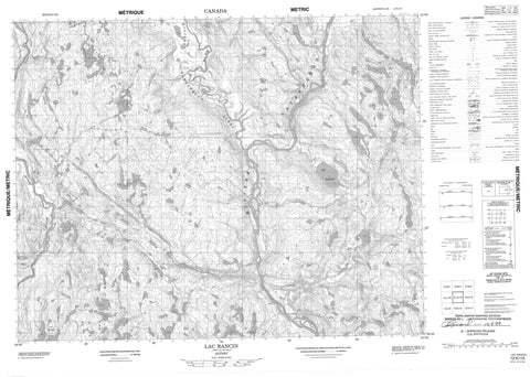 012K13 Lac Rancin Canadian topographic map, 1:50,000 scale