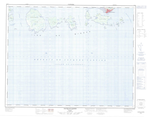 012L04 Havre St Pierre Canadian topographic map, 1:50,000 scale