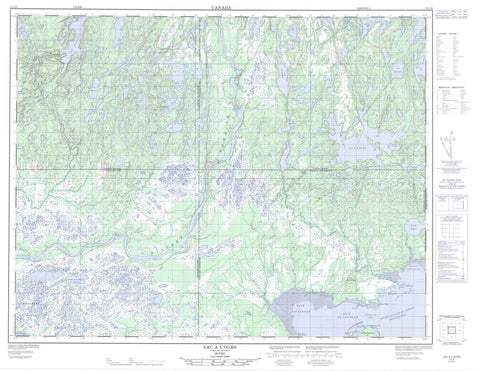 012L06 Lac A L Ours Canadian topographic map, 1:50,000 scale